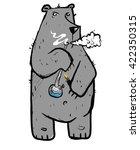 rastafarian bear  illustration... | Shutterstock .eps vector #422350315