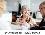 positive granny with her friends | Shutterstock . vector #422350915