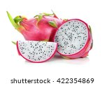 Dragon Fruit Isolated On White...
