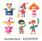 children in carnival costumes   ... | Shutterstock .eps vector #422354959
