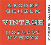 vintage alphabet font | Shutterstock .eps vector #422358661