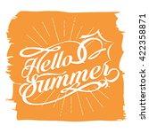 hello summer vector design | Shutterstock .eps vector #422358871