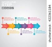 flat design. process arrows... | Shutterstock .eps vector #422361184