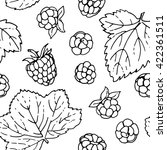 pattern of vector berries and... | Shutterstock .eps vector #422361511