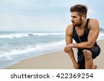 portrait of athletic man with... | Shutterstock . vector #422369254