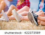 Legs Of Teenagers  Canvas Shoe...