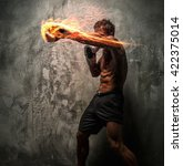 awesome male with great body... | Shutterstock . vector #422375014