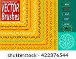 vector decorative scribble... | Shutterstock .eps vector #422376544