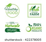 set of organic and nature food... | Shutterstock .eps vector #422378005