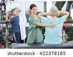 female nurse assisting senior... | Shutterstock . vector #422378185