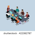 teamwork 3d isometric business... | Shutterstock . vector #422382787
