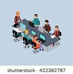 teamwork 3d isometric business... | Shutterstock . vector #422382787