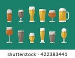 beer icons  vector set | Shutterstock .eps vector #422383441