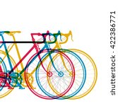 abstract background 3 bikes in... | Shutterstock .eps vector #422386771
