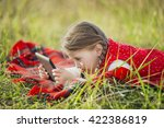 girl with the tablet | Shutterstock . vector #422386819