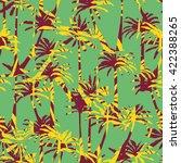 palm tree silhouette pattern  ... | Shutterstock .eps vector #422388265