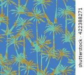 palm tree silhouette pattern  ... | Shutterstock .eps vector #422388271