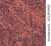 ethnic seamless background.... | Shutterstock .eps vector #422393905