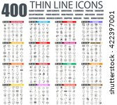 set of thin line icons for... | Shutterstock .eps vector #422397001