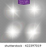 glow light effect. star burst... | Shutterstock .eps vector #422397019