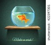 Realistic Aquarium With Gold...