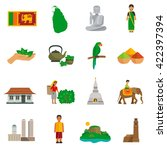 set of color flat icons of sri...   Shutterstock .eps vector #422397394