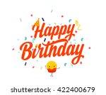 happy birthday message ... | Shutterstock .eps vector #422400679