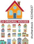 20 original houses. vector   Shutterstock .eps vector #42240637