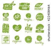 vector eco  organic  bio logos... | Shutterstock .eps vector #422408464