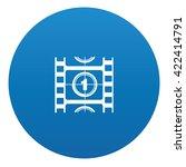 film icon design on blue...