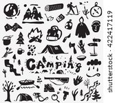 camping icons  | Shutterstock .eps vector #422417119
