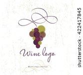wine logo concept. wine store... | Shutterstock .eps vector #422417845