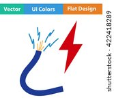 flat design icon of wire  in ui ...