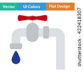 flat design icon of  pipe with...