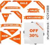 set of design elements for sale. | Shutterstock .eps vector #42241888