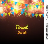 welcome to brazil 2016.... | Shutterstock .eps vector #422424589
