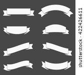 set of retro ribbon banner... | Shutterstock .eps vector #422426611
