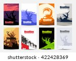 set of simple creative nature... | Shutterstock .eps vector #422428369