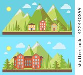 mountain resorts  landscapes... | Shutterstock .eps vector #422440399