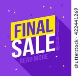 final sale banner. sale and... | Shutterstock .eps vector #422441269