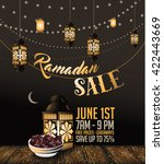 Ramadan Sale Background With...