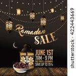 ramadan sale background with... | Shutterstock .eps vector #422443669
