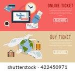 buy ticket online  | Shutterstock .eps vector #422450971