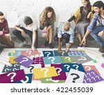 question mark asking curious... | Shutterstock . vector #422455039