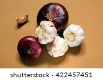 several large red onion and...