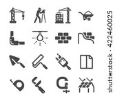 construction icons set 2 | Shutterstock .eps vector #422460025