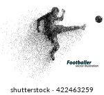 silhouette of a football player ... | Shutterstock .eps vector #422463259