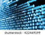 programmer workplace.  web site ... | Shutterstock . vector #422469199