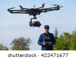 drone  unmanned copter flight ... | Shutterstock . vector #422471677