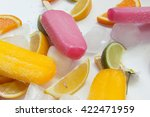 Pink And Yellow Ice Creams Wit...